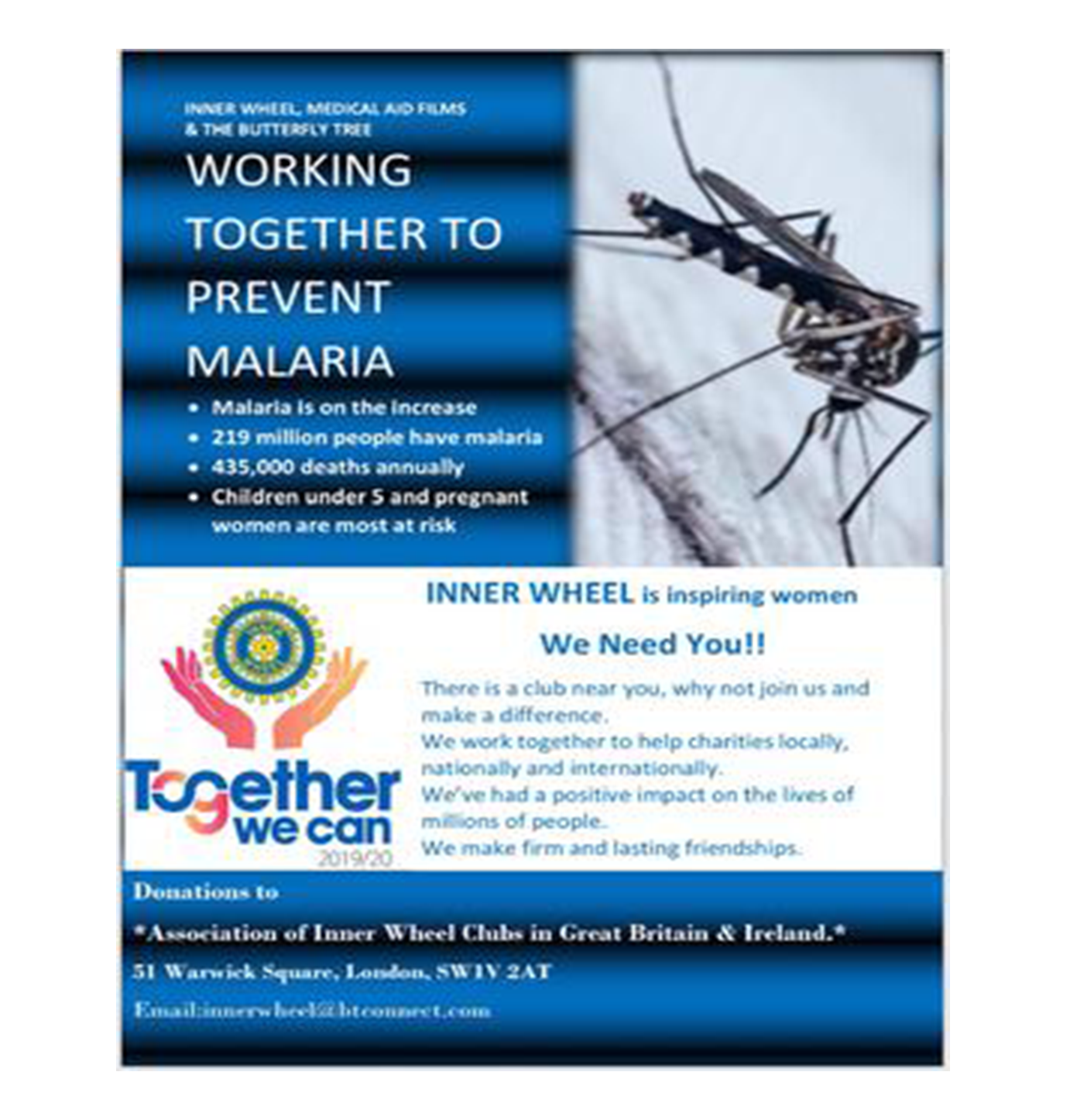 Malaria Prevention Charity Butterfly Tree